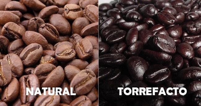 Café natural y torrefacto comparativa